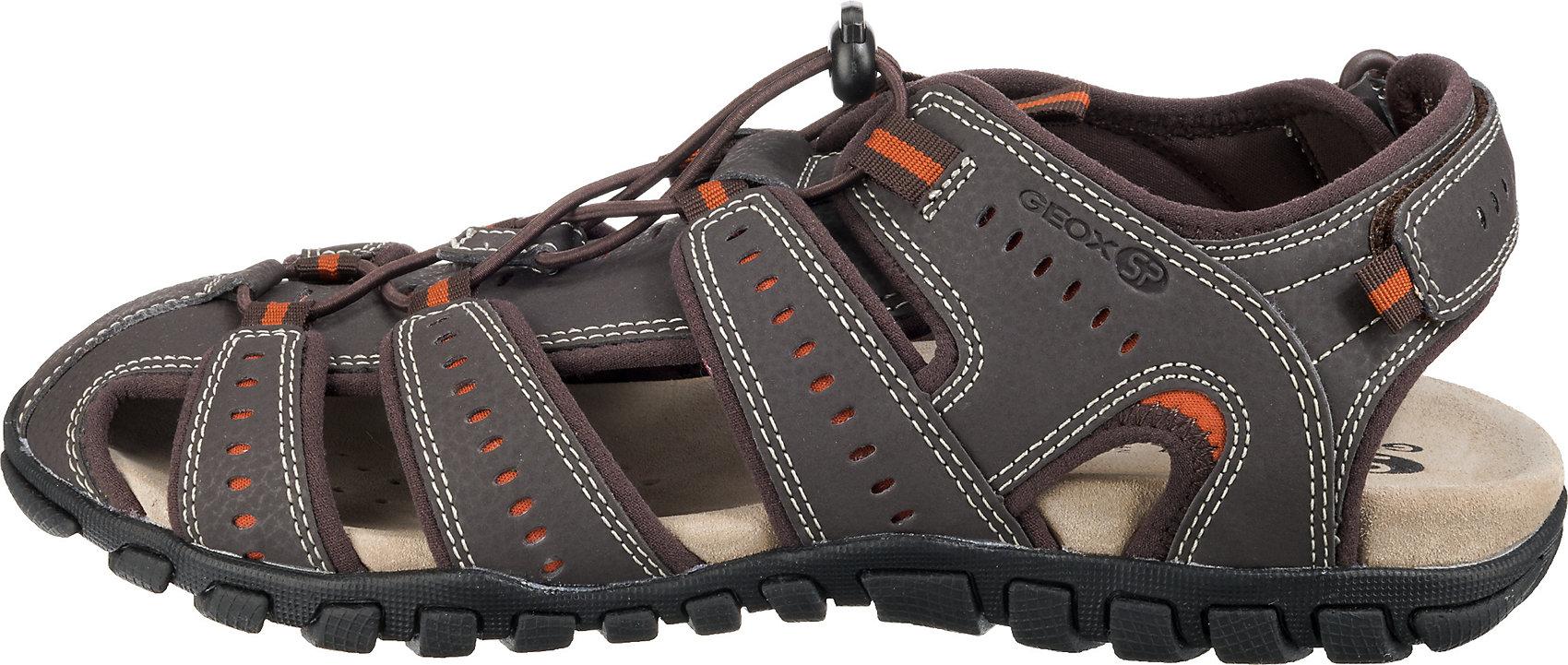 Details zu Neu GEOX Komfort Sandalen 10589554 für Herren braun