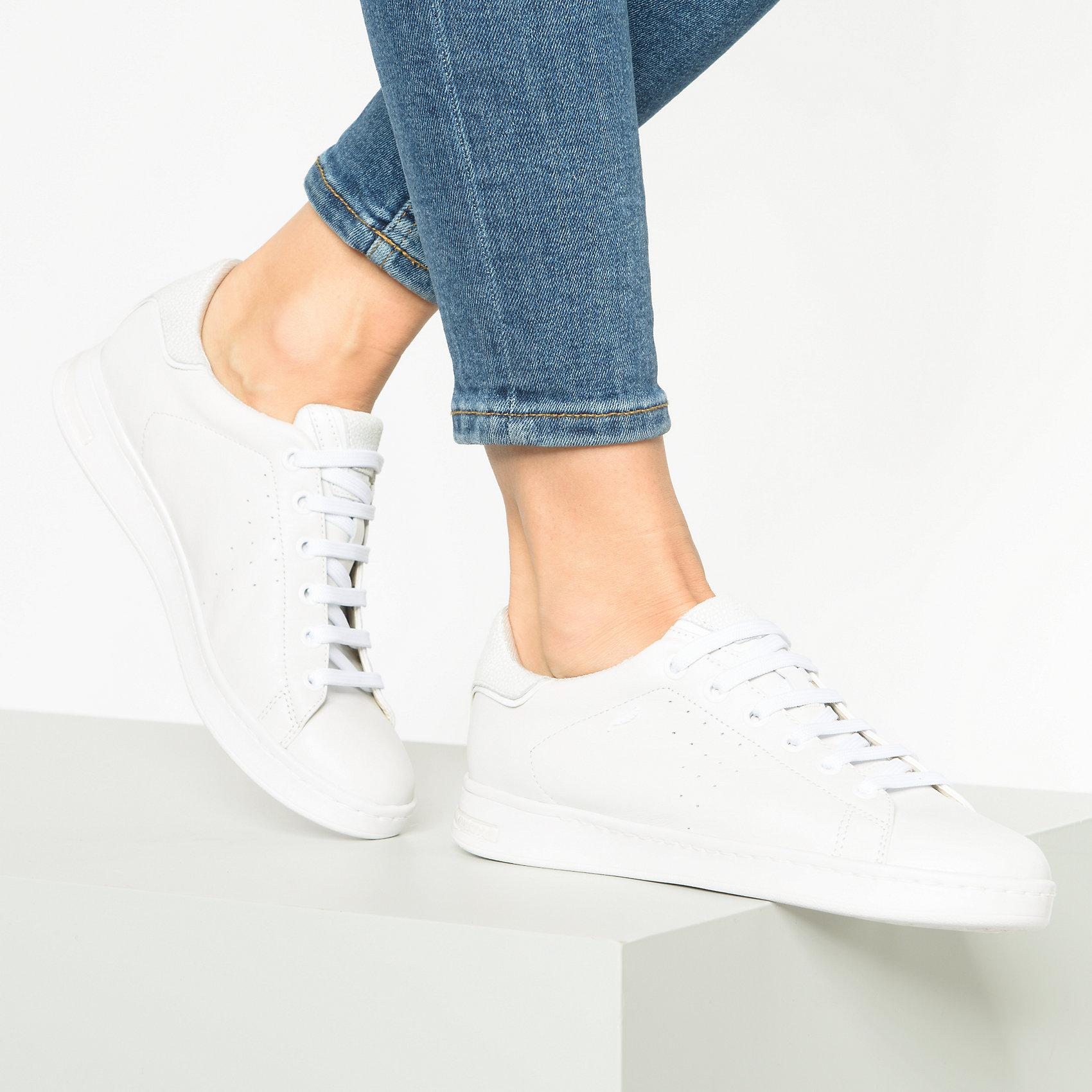 Details zu Neu GEOX Sneakers Low 10607582 für Damen wollweiß