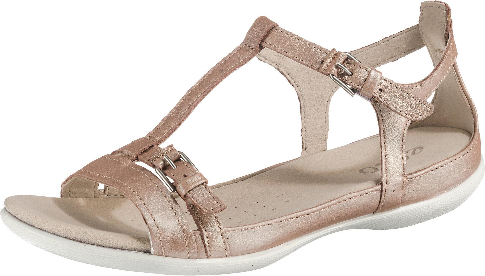 Details zu Neu ECCO FLASH Komfort Sandalen 10620200 für Damen beige schwarz