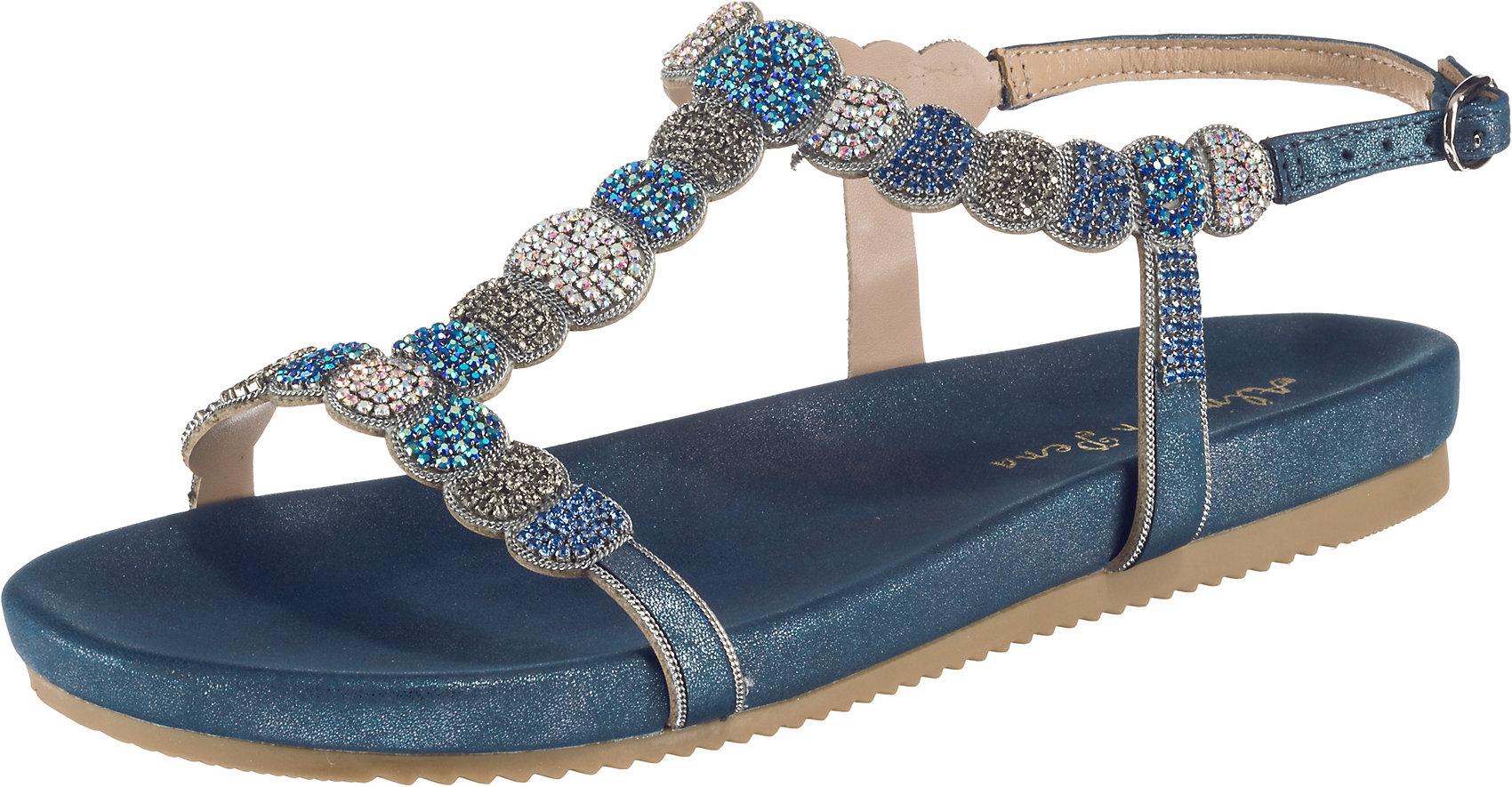 Details zu Neu Alma en Pena Klassische Sandalen 10734080 für Damen dunkelblau rosa