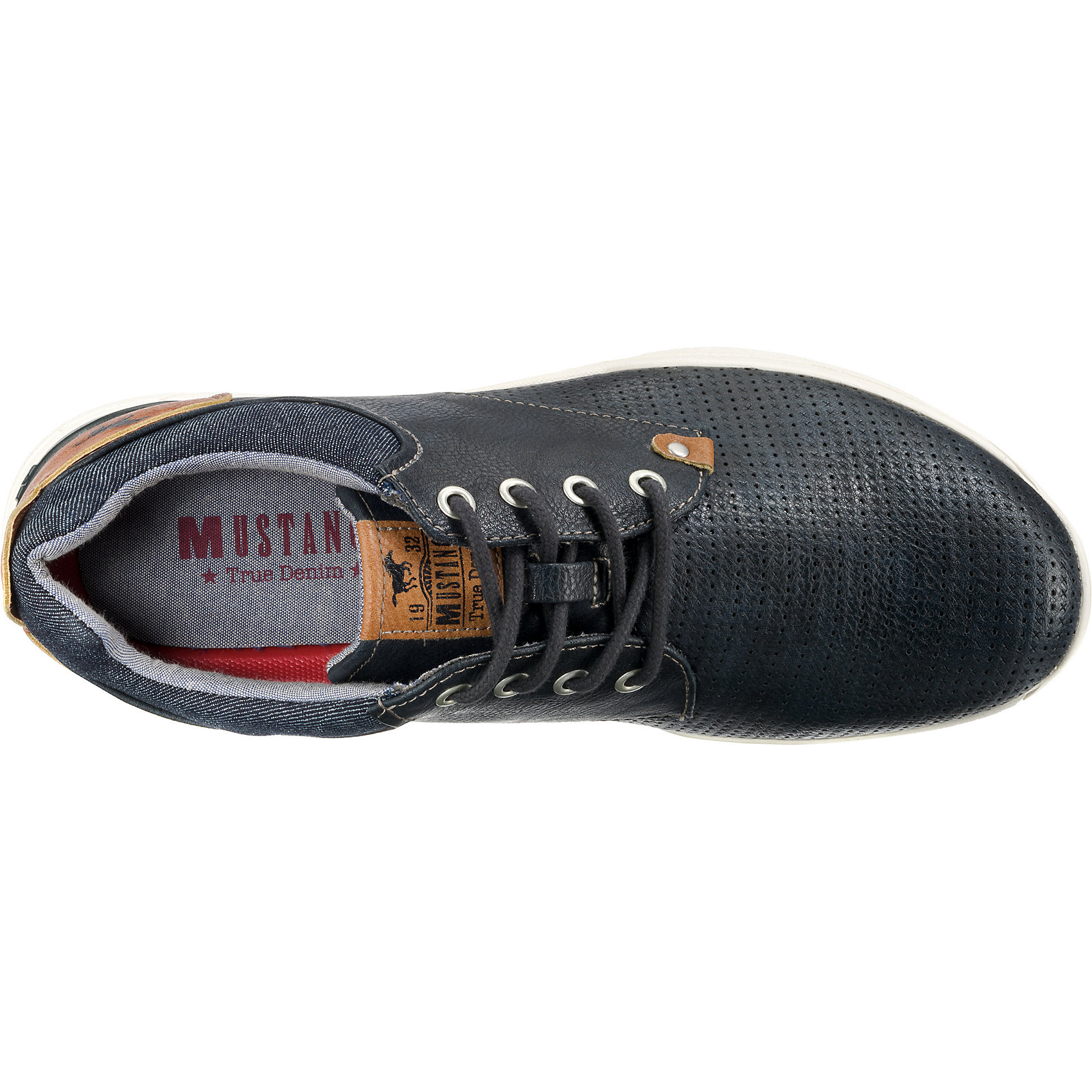 Für Mustang Herren Sneakers Dunkelblau 10738821 Neu Low Grau wIxRC4Rqd