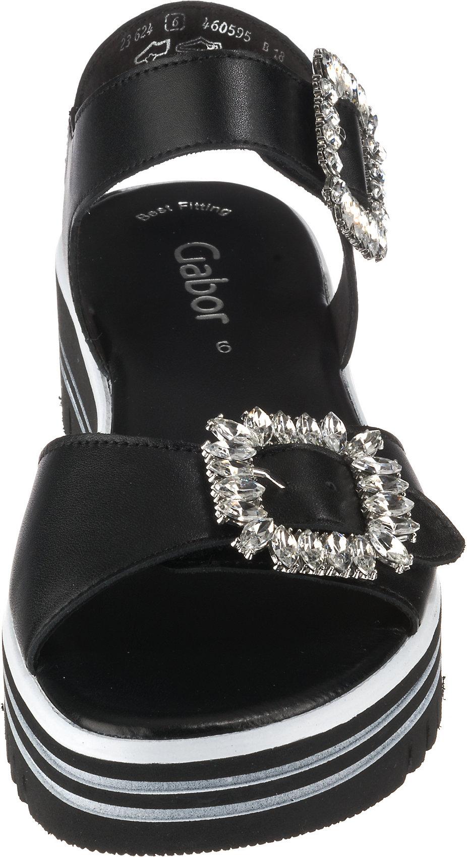 Neu Gabor Klassische Sandalen Sandalen Sandalen 10748979 für Damen schwarz fb4631