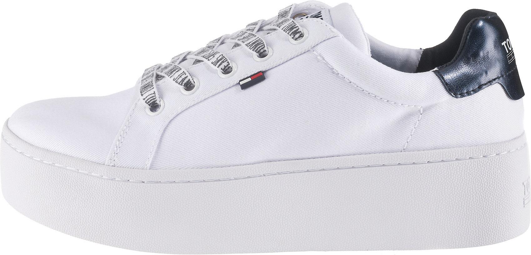 Neu Low Details Weiß Tommy Zu Roxie 10946136 Damen 1c4 Für Jeans Sneakers OkiTXPuZ