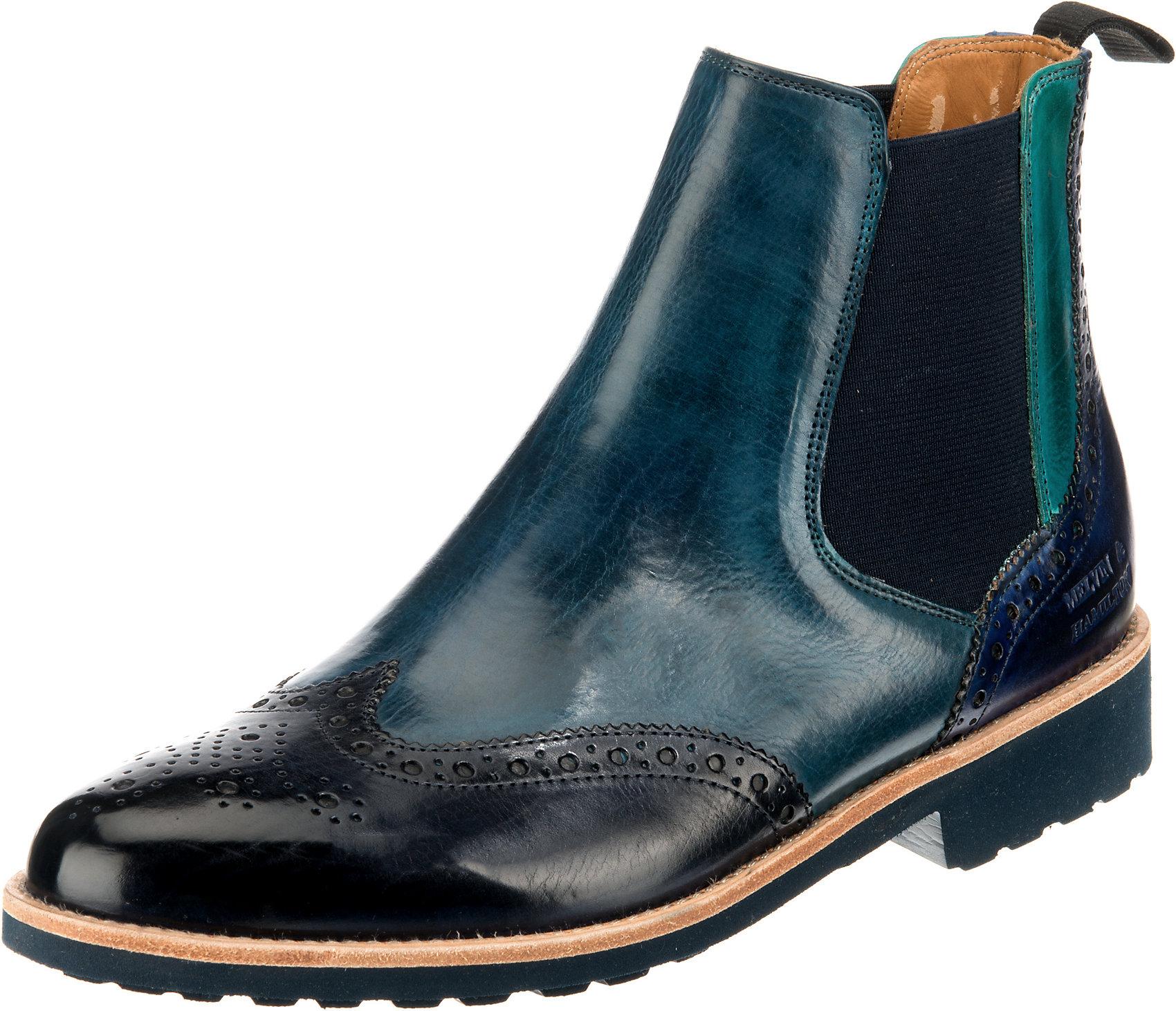abwechslungsreiche neueste Designs neuer Stil & Luxus online Shop Details zu Neu MELVIN & HAMILTON Selina 6 Chelsea Boots 11627332 für Damen  blau