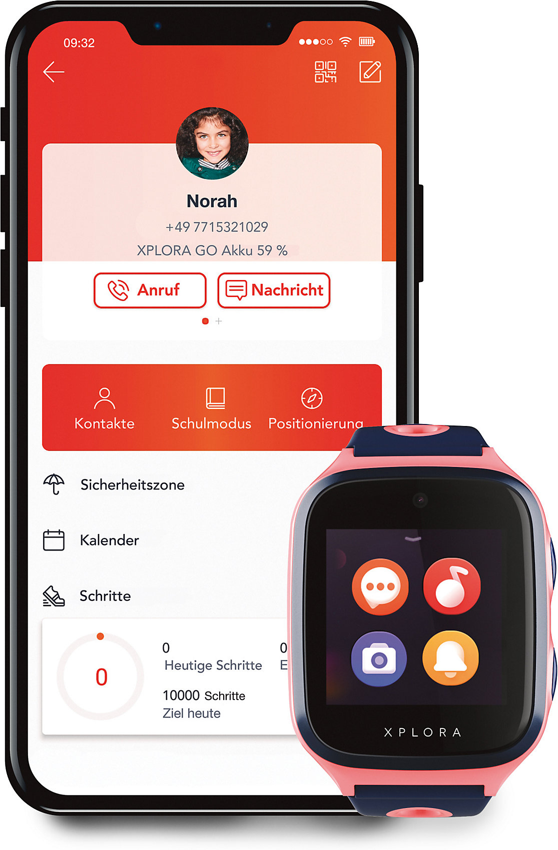 neu xplora 4  smartwatch für kinder  sim free pink