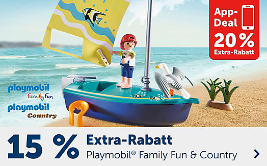 15% Extra-Rabatt auf Playmobil Family Fun & Country ODER 20% in der App