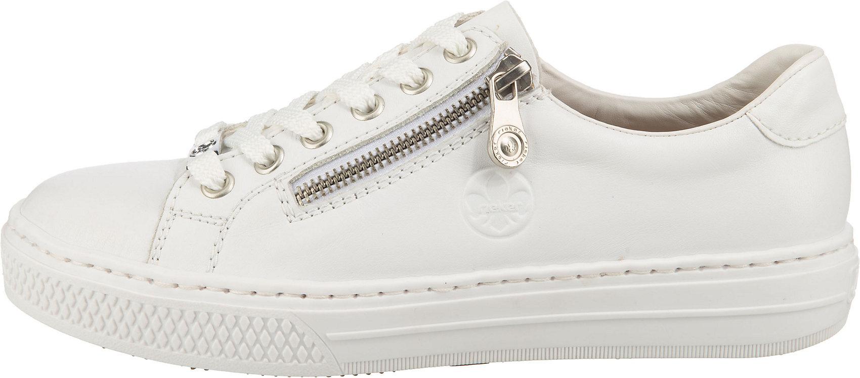 Indexbild 3 - Neu rieker Sneakers Low 17444045 für Damen weiß