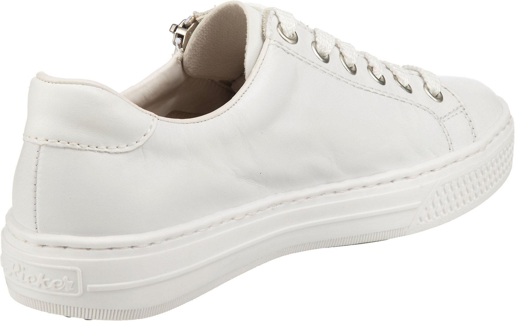 Indexbild 11 - Neu rieker Sneakers Low 17444045 für Damen weiß