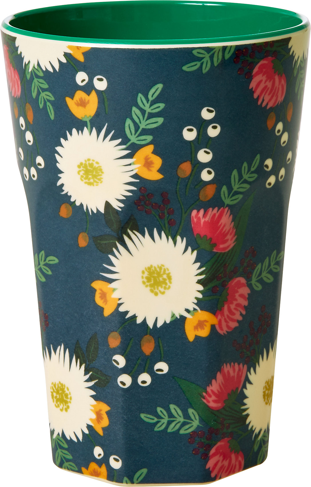 "Indexbild 2 - Neu rice Melamin Trinkbecher ""Wedding Bouquet"", H9cm 20698301 blau/grün"