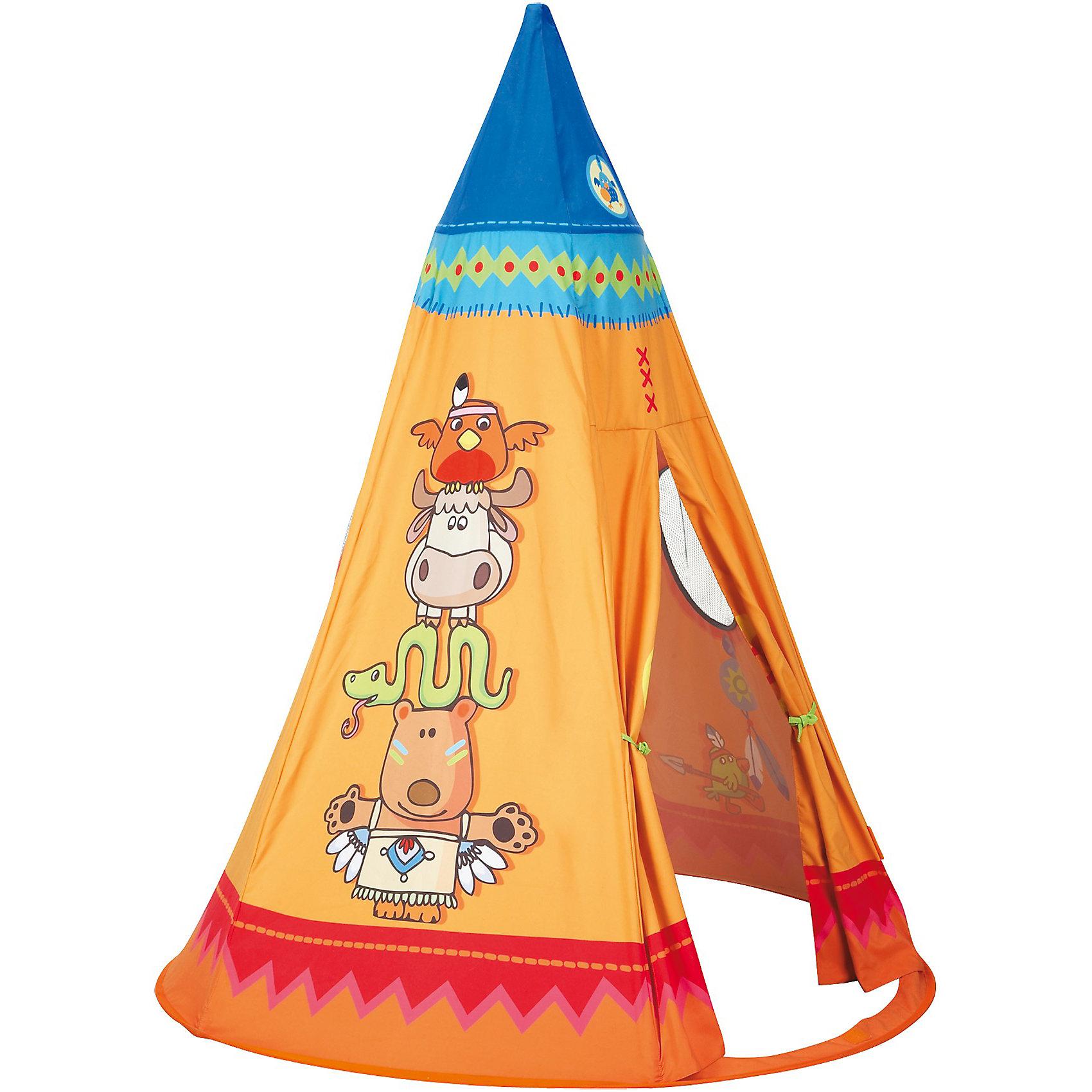 Neu Indianer HABA 8061 Spielzelt, Tipi, Indianer Neu 5138253 Orange 55084b