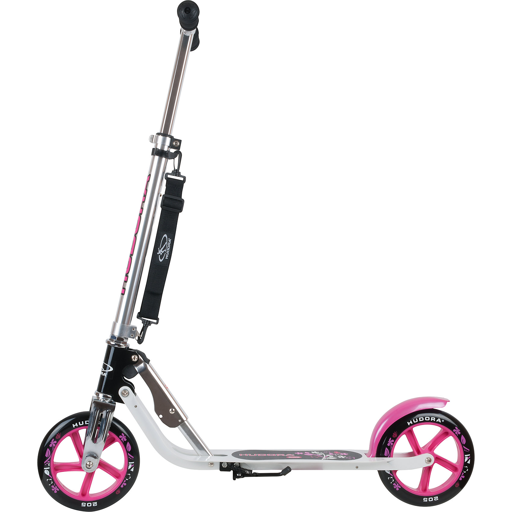 Indexbild 3 - Neu Hudora Scooter Big Wheel 205 mm, pink/schwarz 6071773 pink blau