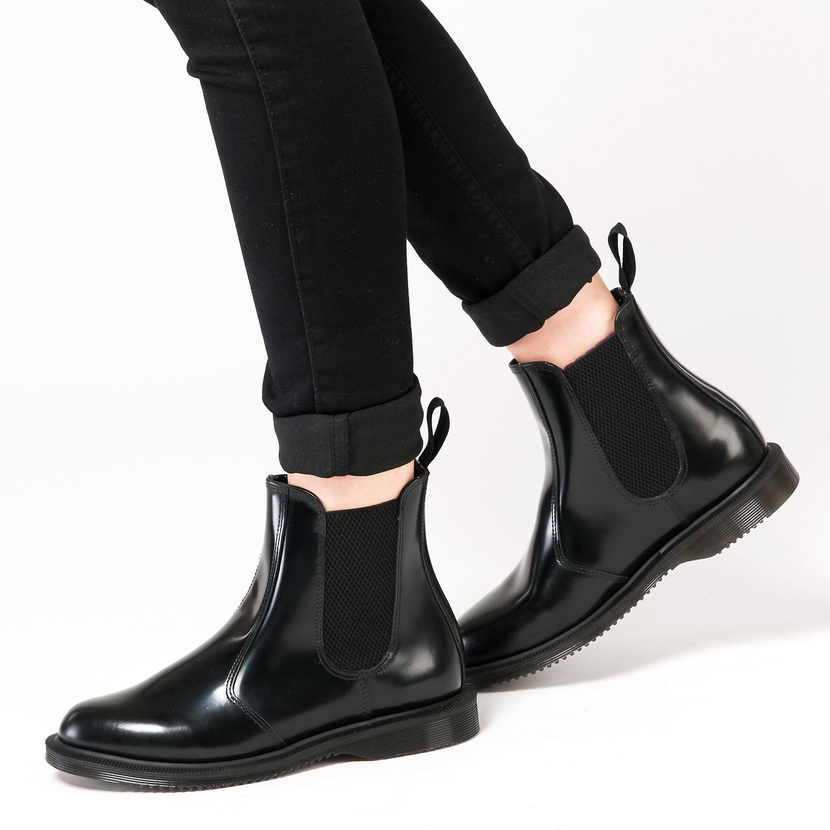 Neu Dr. Martens FLORA Polished Smooth BLACK Chelsea Stiefel 5738121 für für 5738121 Damen 5c57a2