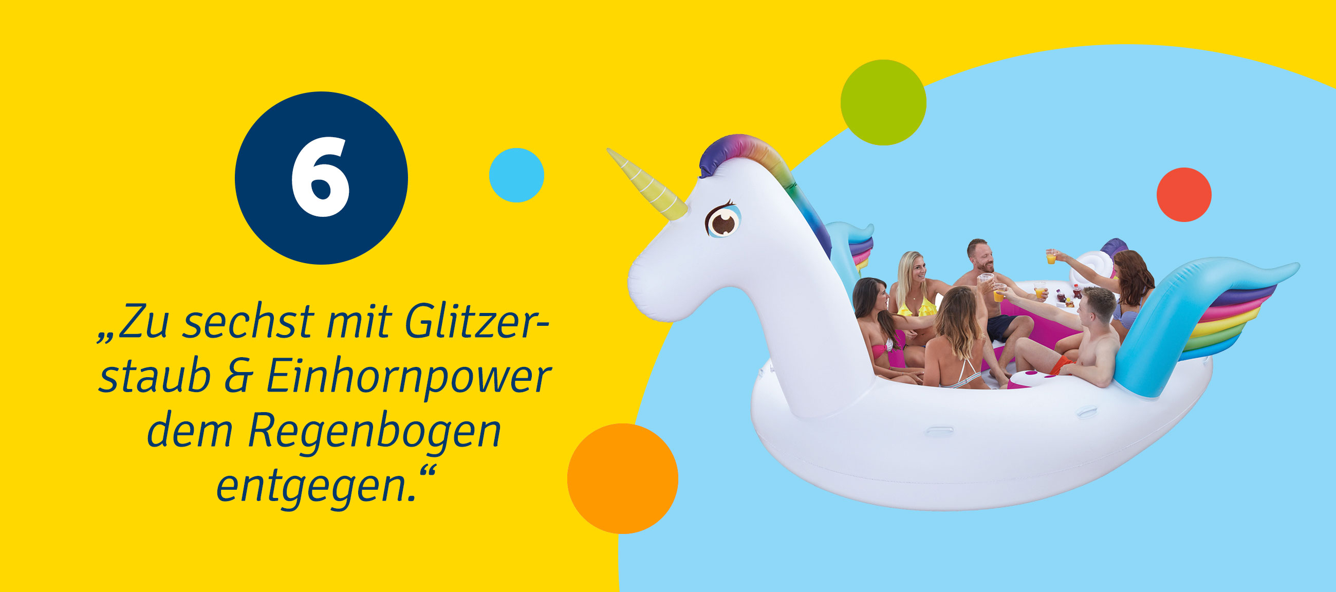 Mega Floater Einhorn (Happy People)