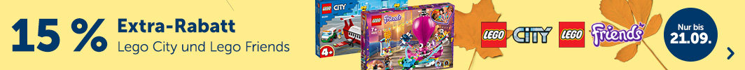 15% Extra-Rabatt auf LEGO City & LEGO Friends