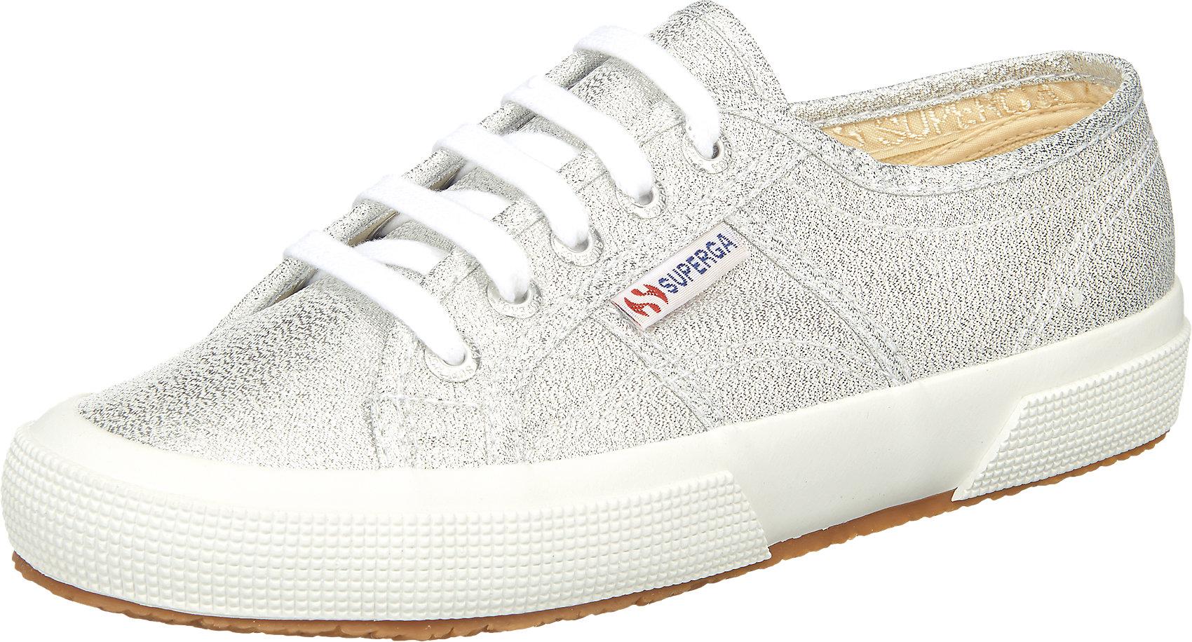 Details zu Neu Superga® 2750 Lamew Sneakers Low 5748461 für Damen silber