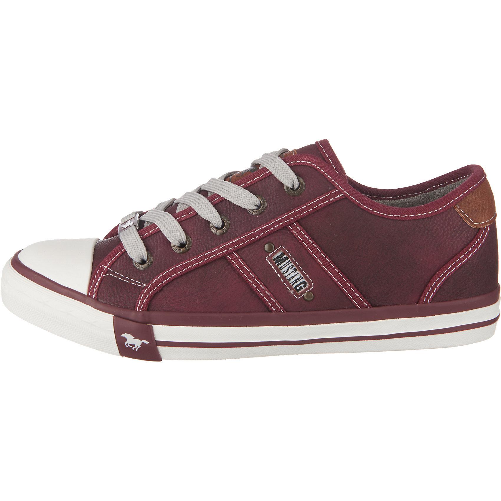 84663d423541cf Neu MUSTANG Sneakers Low 5749161 für Damen dunkelblau cognac ...