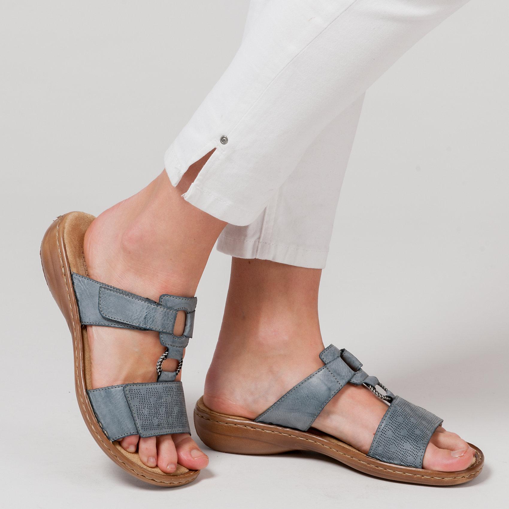Rieker Neu Blau Für Damen Pantoletten KombiEbay 5751511 mN8nw0