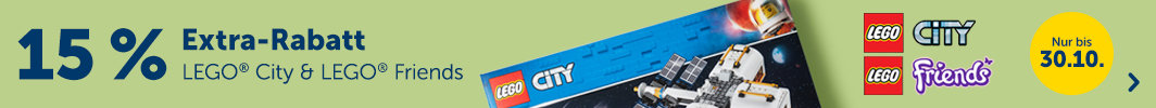 15% Extra-Rabatt auf LEGO City & Friends