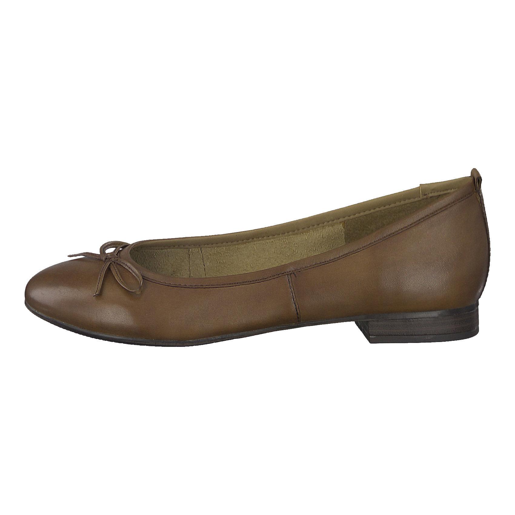 Details zu Neu Tamaris Bigo Ballerinas 5748285 für Damen bordeaux braun