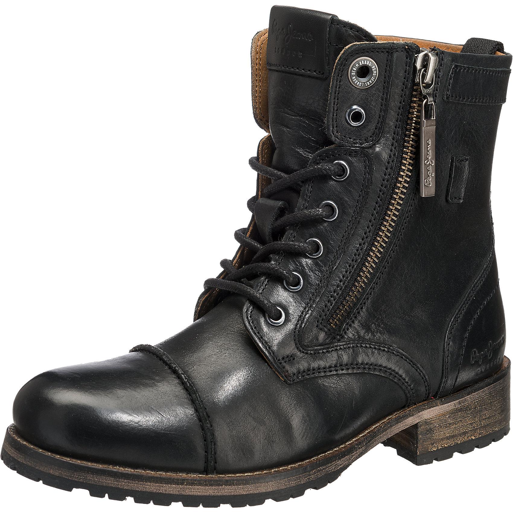 Neu Pepe Jeans MELTING W.ZIPPER Schnürstiefelette 5758176 für Damen ... be3e2b9feb