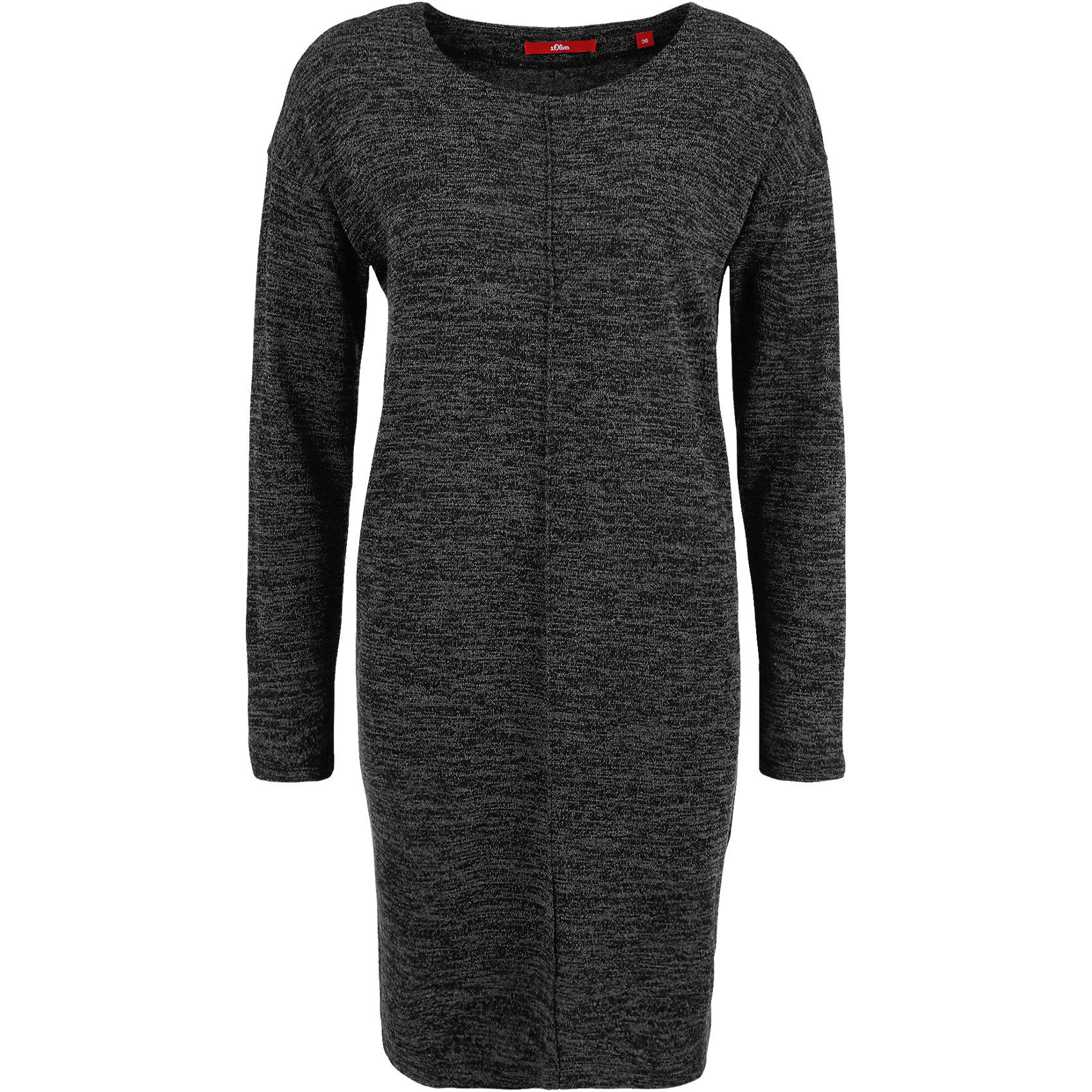 c5bde79d349c05 Neu s.Oliver Strickkleid 5636702 Kleid Strick für Damen schwarz   eBay