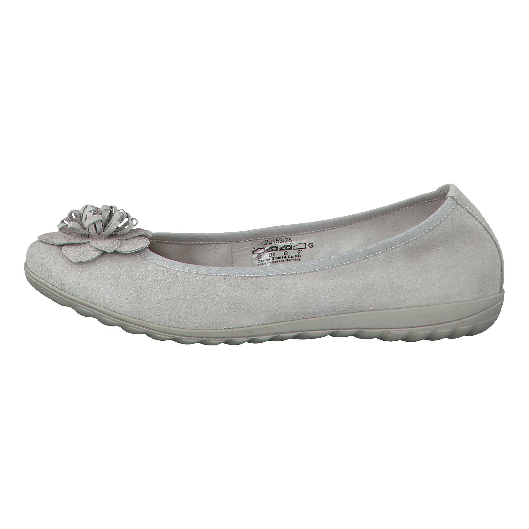 size 40 b09c7 8bfb0 Details zu Neu CAPRICE Anna Ballerinas 5770114 für Damen grau