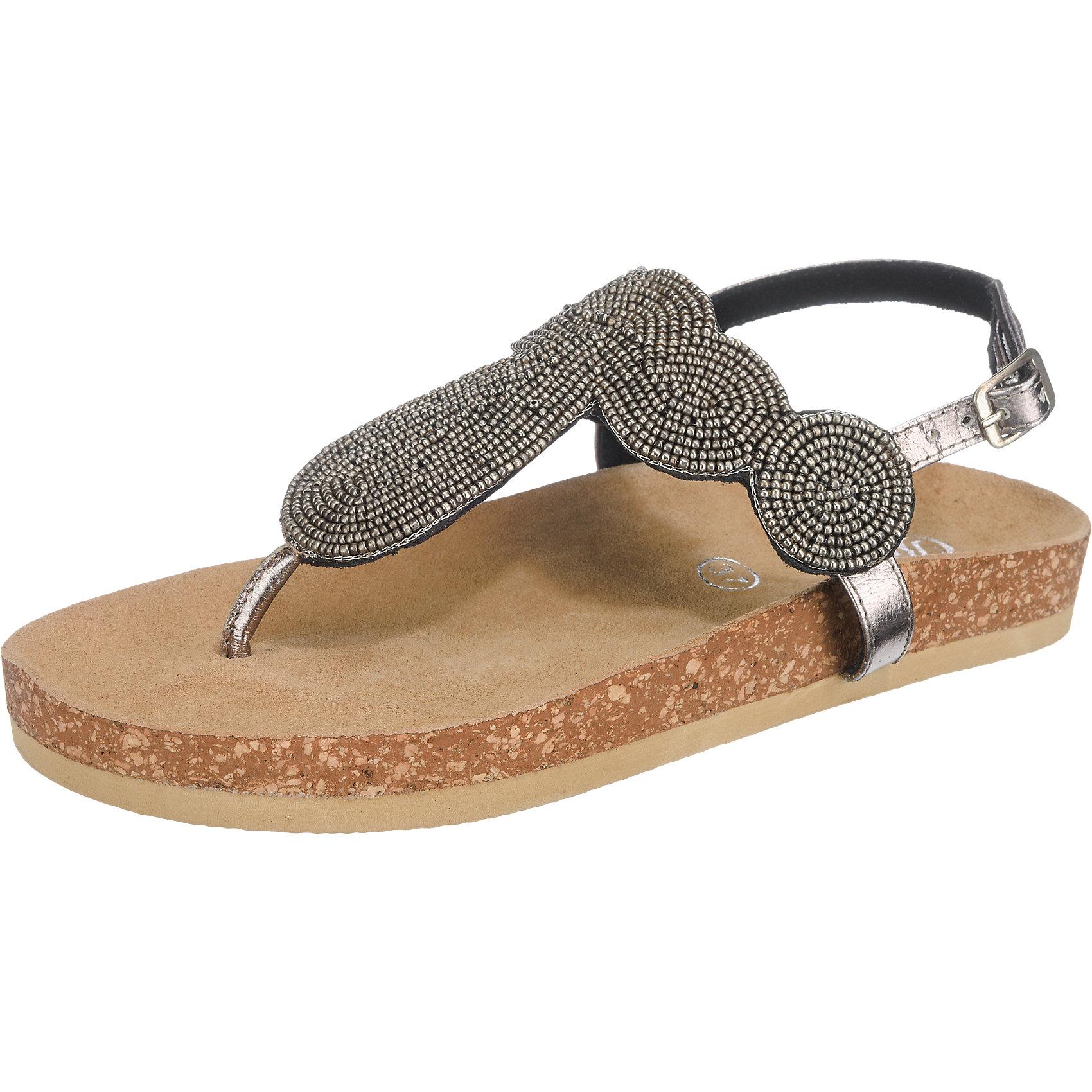 Neu BUFFALO Sandaletten gold 5744299 für Damen schwarz gold Sandaletten silber 7213b7