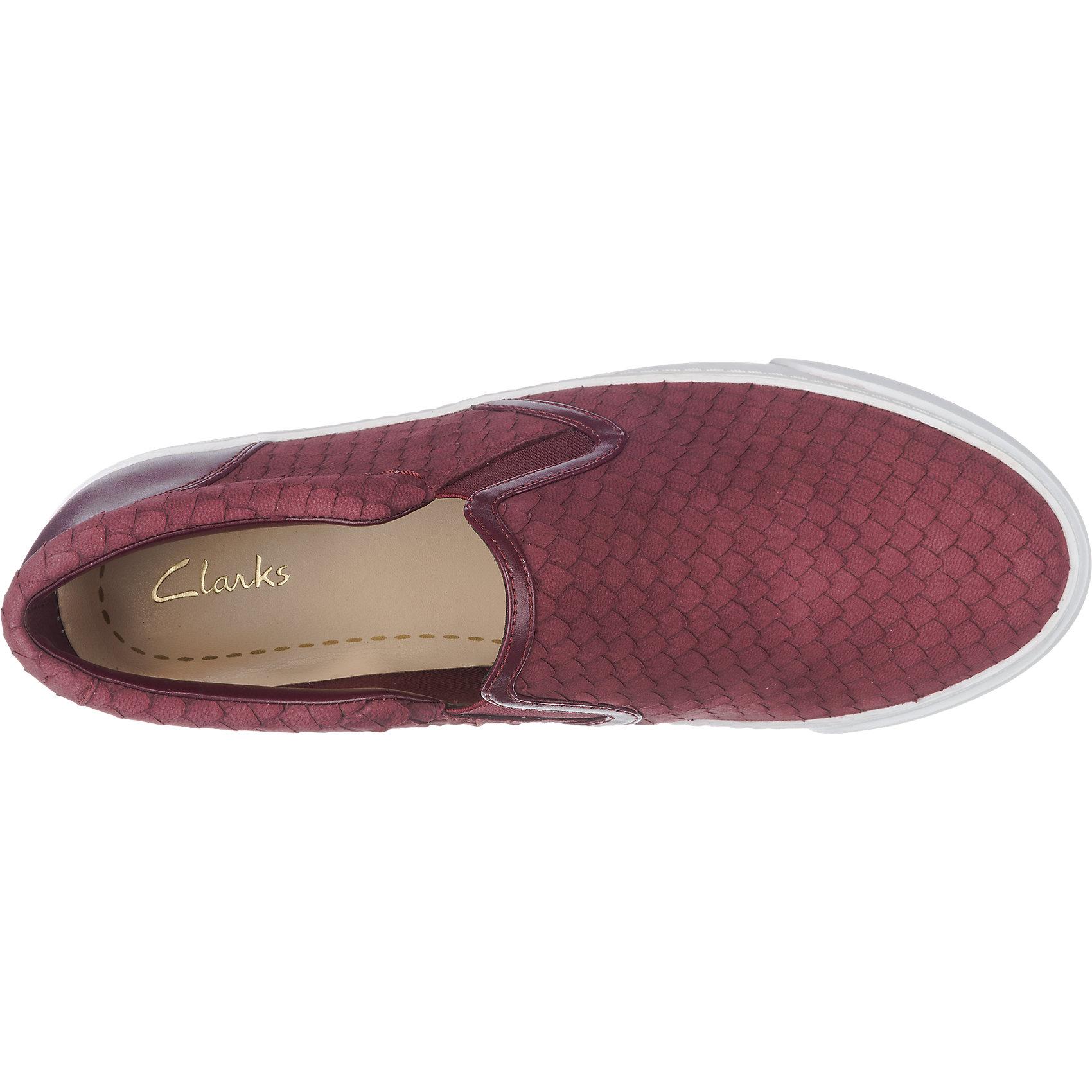 Details zu Neu Clarks Glove Puppet Slipper 5772596 für Damen rot silber