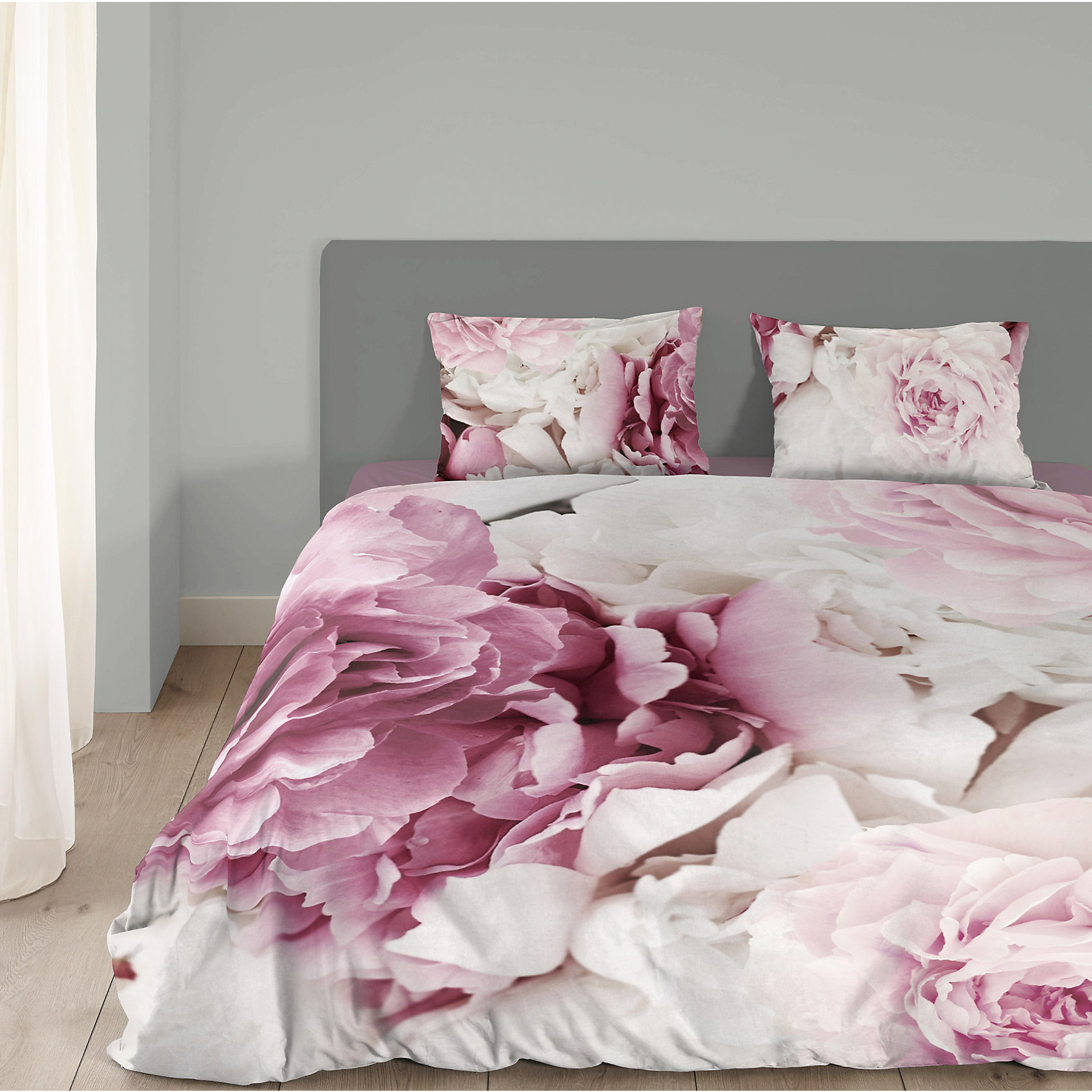 Neu Good Morning Bedlinens Bettwäsche Peonies 6057566 Rosaweiß Ebay