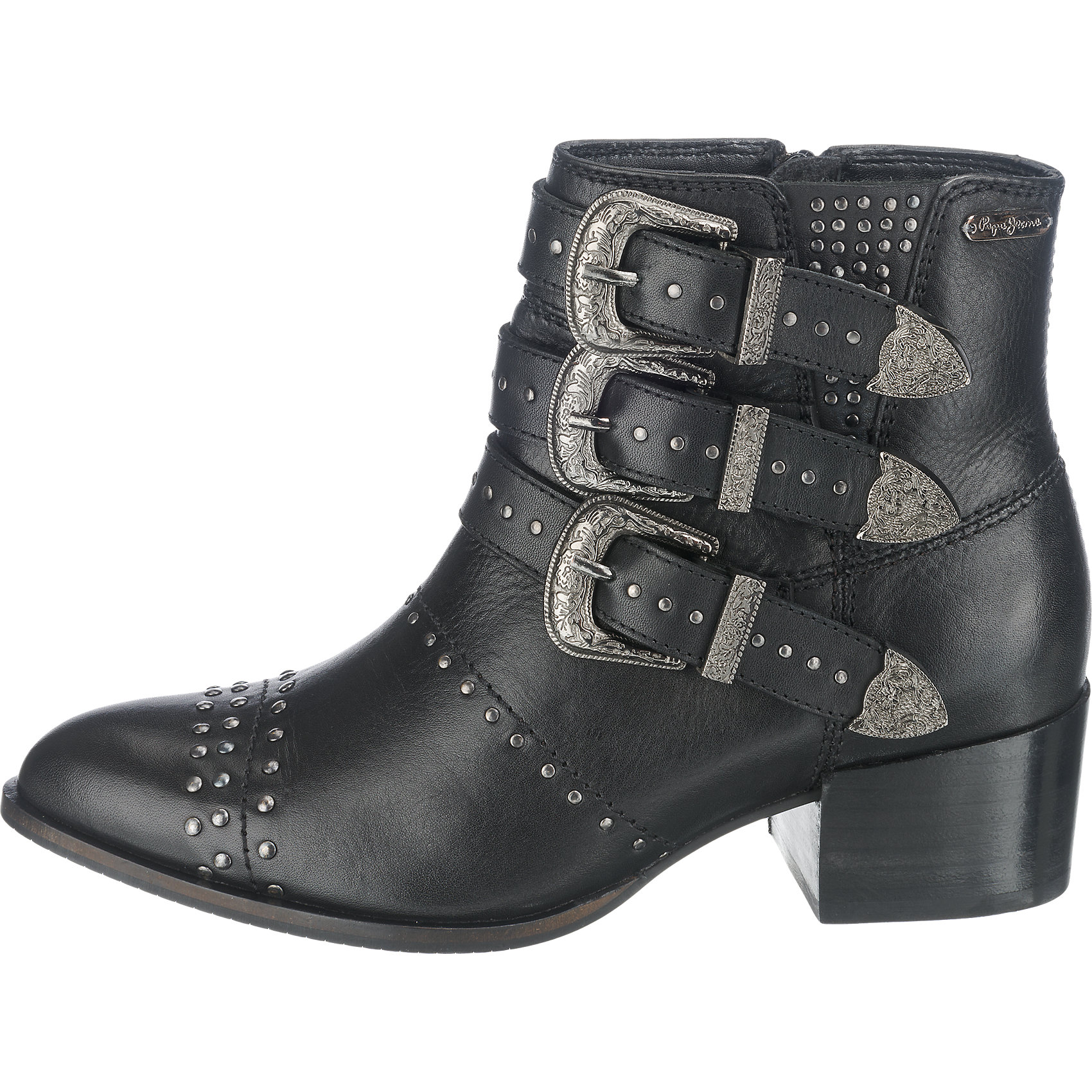 neu pepe jeans waterloo rock stiefeletten 5777531 f r damen schwarz ebay. Black Bedroom Furniture Sets. Home Design Ideas