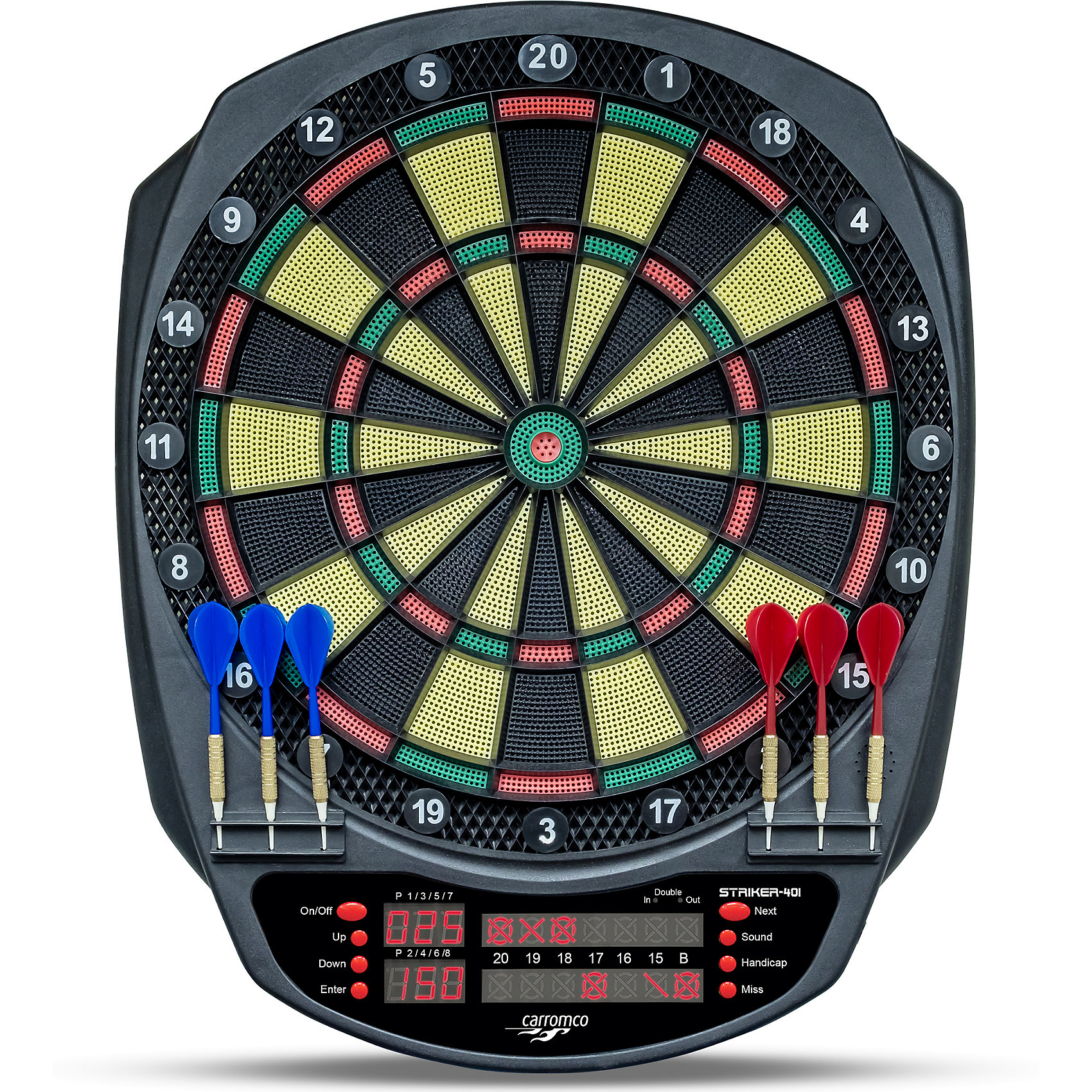 Carromco Elektronik dartboard Abstand Striker-401, mit Adapter, 3-Loch Abstand dartboard 6664287 a8e8da
