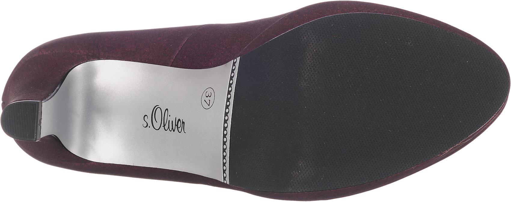 Neu s.Oliver Pumps 5779819 für Damen silber bordeaux | eBay