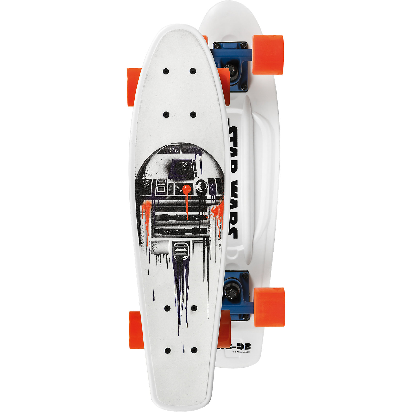 Neu Powerslide Star 6664415 Wars Skateboard Fading R2D2 6664415 Star weiß 72911c