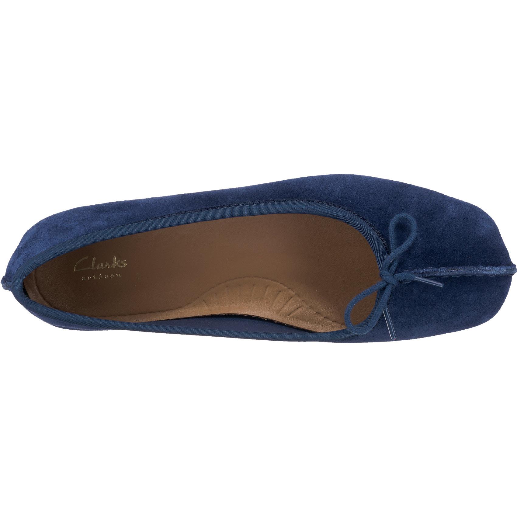 Neu Clarks Freckle Freckle Freckle Ice Ballerinas 6709614 für Damen dunkelblau  | Tragen-wider  55dbc7