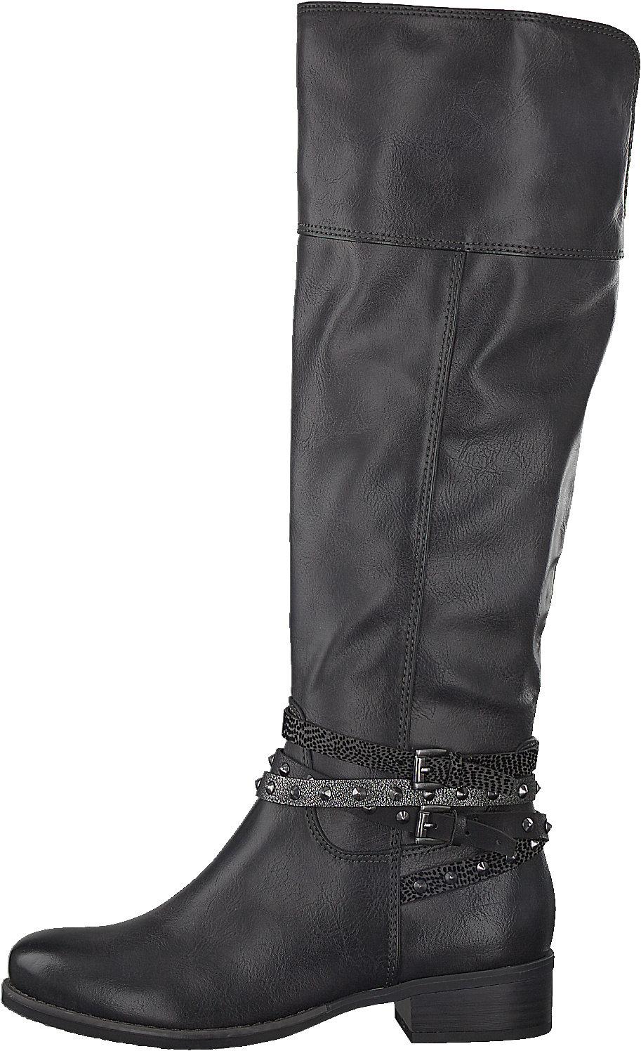 Details zu Neu MARCO TOZZI Stiefel 6993090 für Damen dunkelgrau grau
