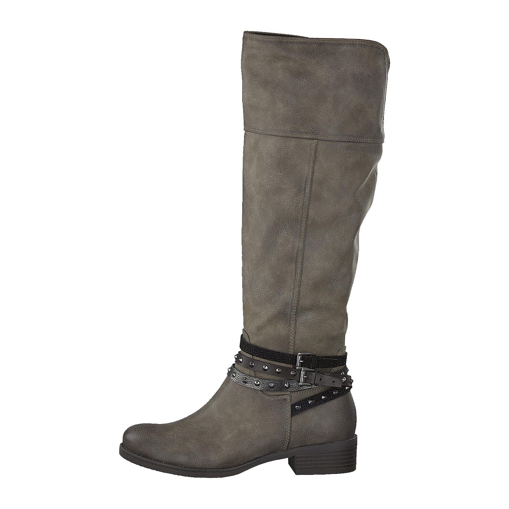 huge selection of 6d963 dfe32 Details zu Neu MARCO TOZZI Stiefel 6993090 für Damen dunkelgrau grau