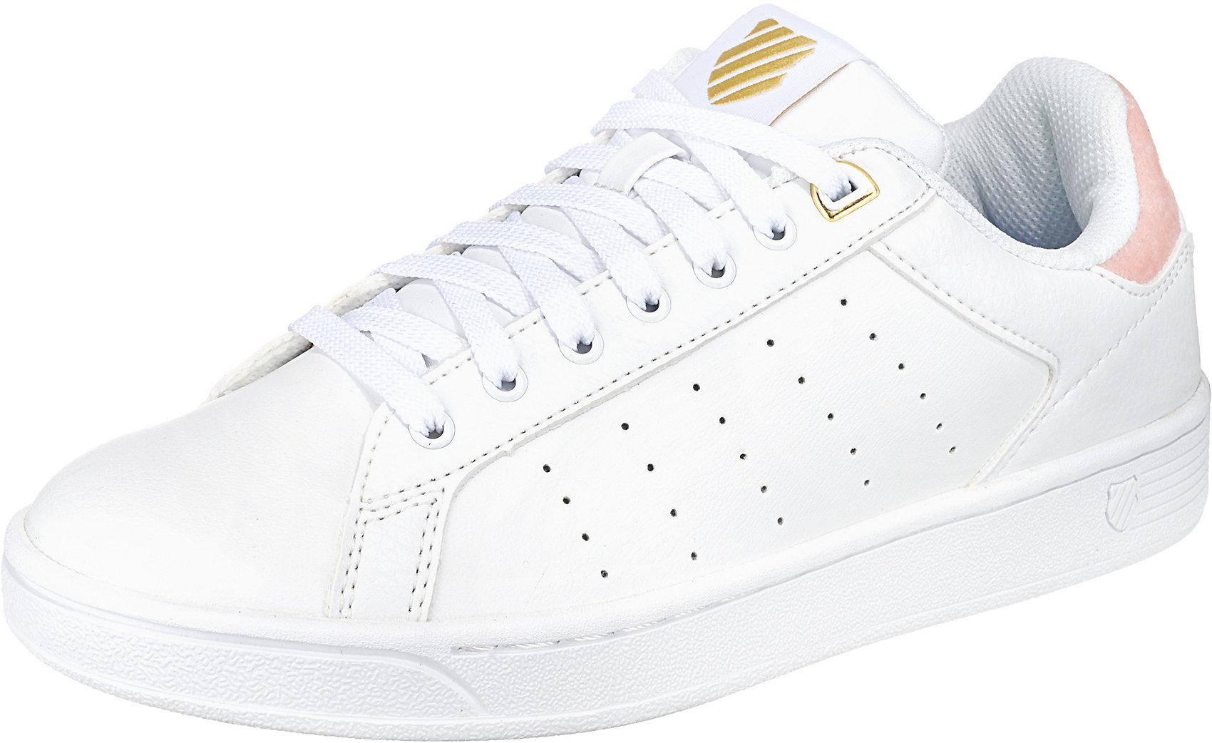Details zu Neu K SWISS Clean Court Sneakers 7000868 für Damen weiß kombi