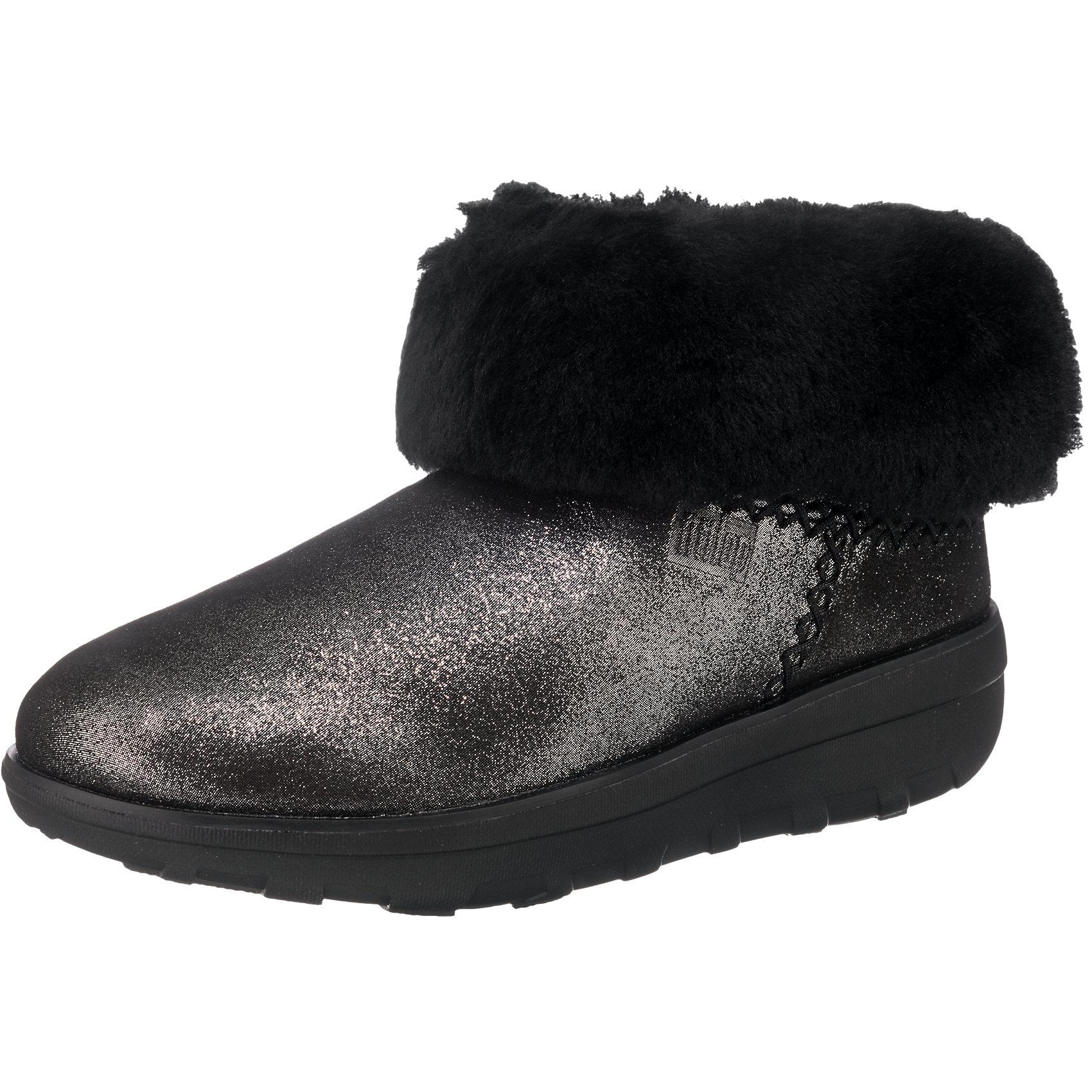 Details zu Neu FitFlop Mukluk Shorty 2 Stiefeletten 7002059 für Damen schwarz