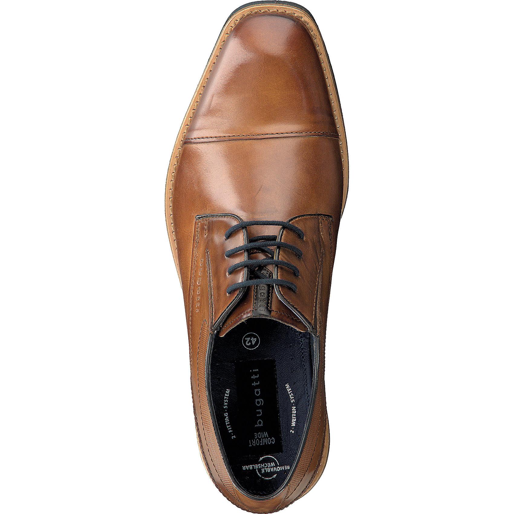 Neu bugatti Freizeit Schuhe cognac extraweit 7029347 für Herren cognac Schuhe c0b800