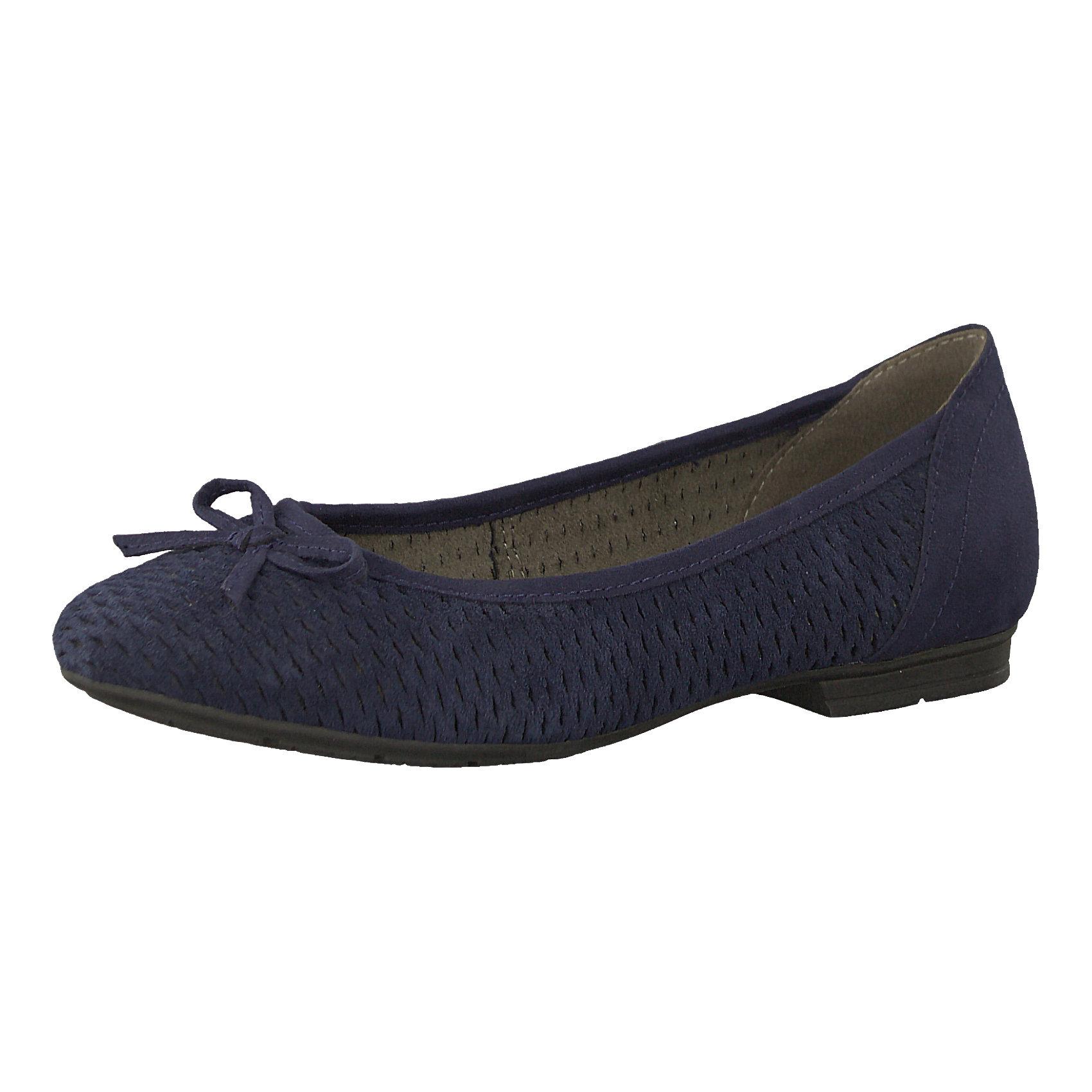Jana Komfort-Ballerinas, blau, blau