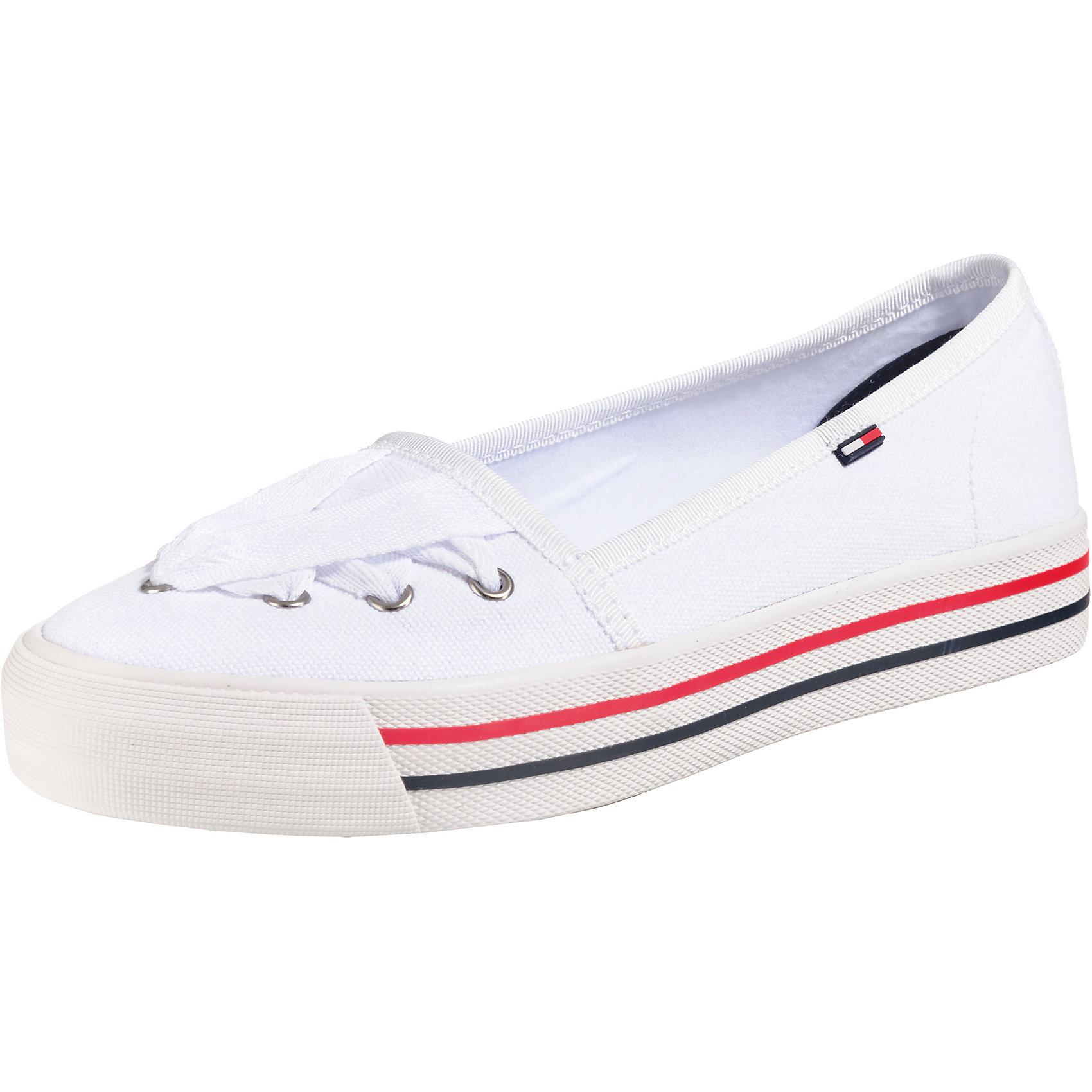 sneakers for cheap 4a0e4 f75b5 Details zu Neu TOMMY JEANS Lace Sneaker Sportliche Ballerinas 7151687 für  Damen