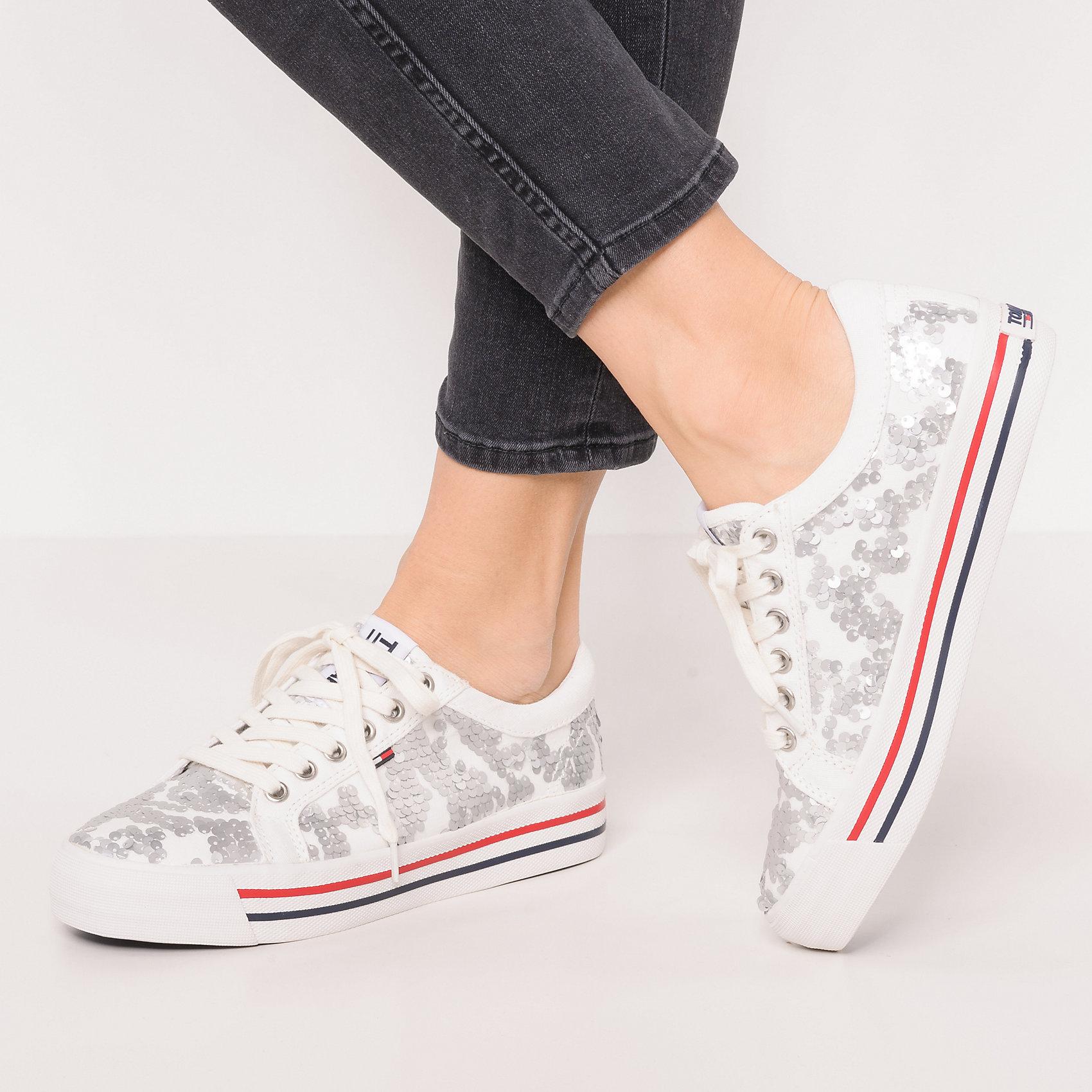 Neu TJ TOMMY JEANS TJ Neu Fashion Sequin Sneaker Sneakers Niedrig 7151695 für Damen 34eda6