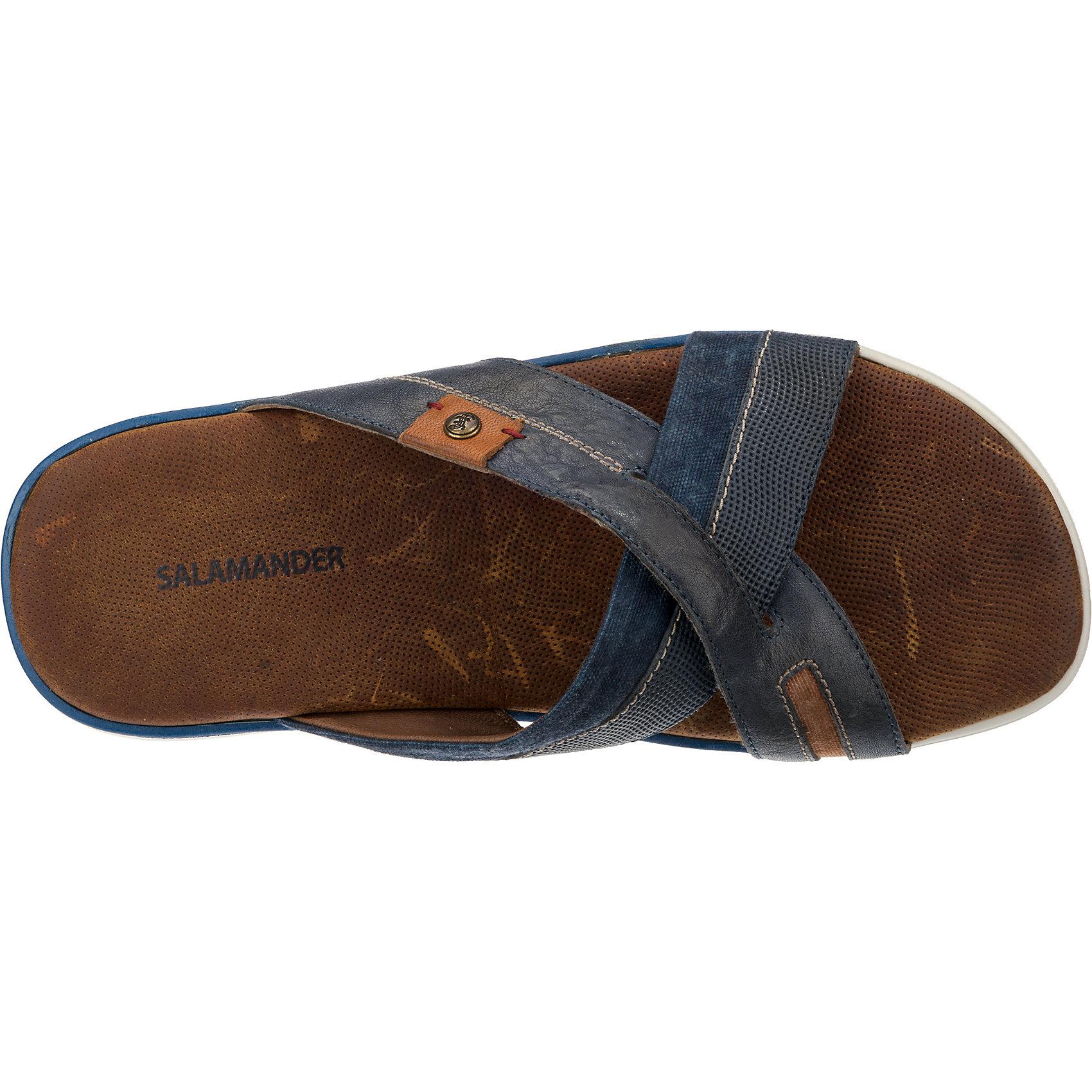 Neu SALAMANDER Herren JENS Komfort-Pantoletten 7202085 für Herren SALAMANDER dunkelblau b03ab2