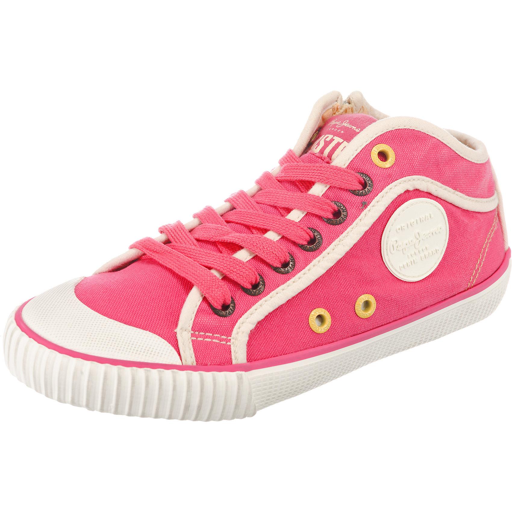 Neu Pepe Jeans INDUSTRY BASIC 17 Sneakers High 7208205 für Damen pink