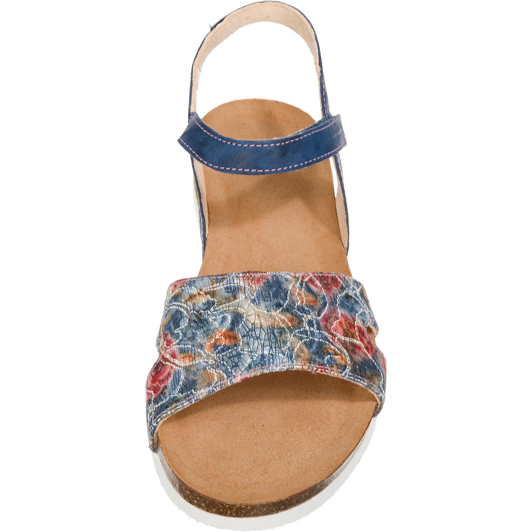 Neu Think  Shik Komfort-Sandale 7208851 für Damen blau-kombi