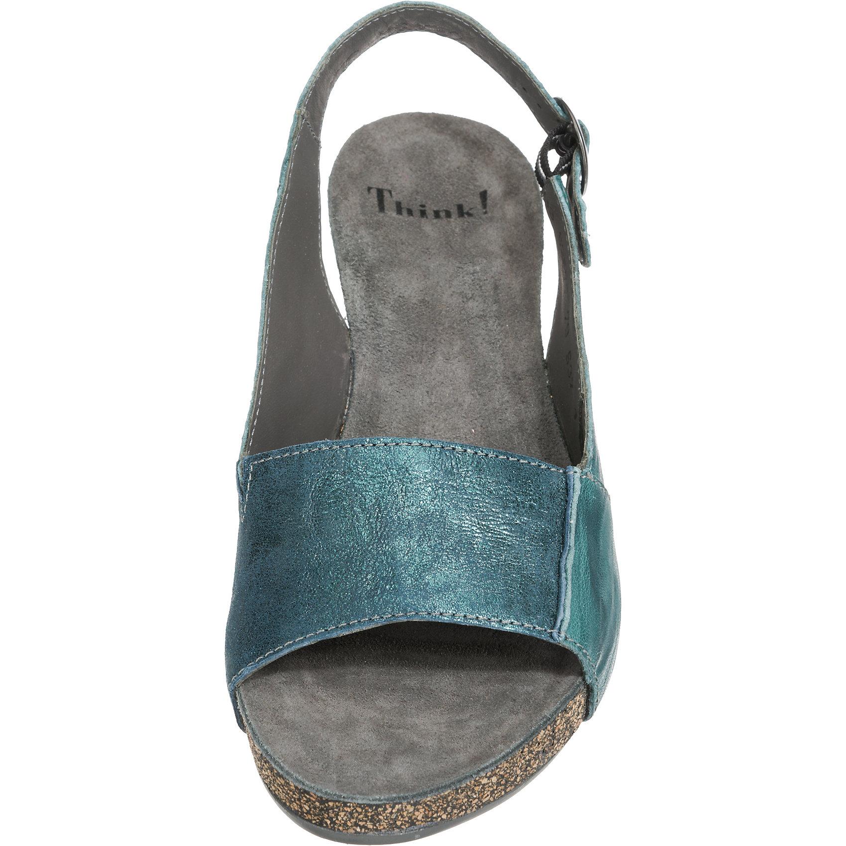 Neu Traudi Think  Traudi Neu Komfort-Sandalen 7209134 für Damen blau-kombi e88b37