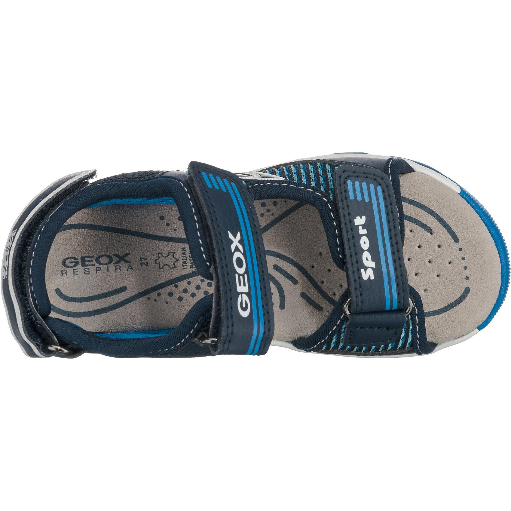 new styles 810de 23a61 Details zu Neu GEOX Sandalen Blinkies ANDROID für Jungen 7209384 für Jungen  blau