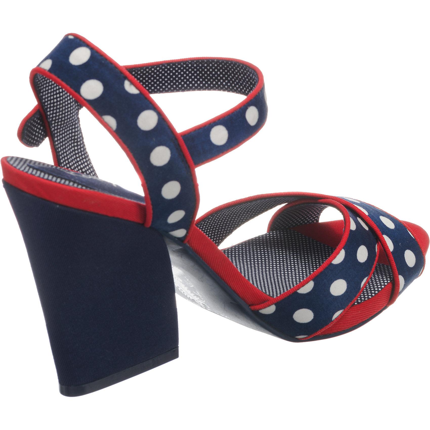 Neu Ruby Shoo Evie KeilSandaleeetten 7572025 für Damen blau/rot