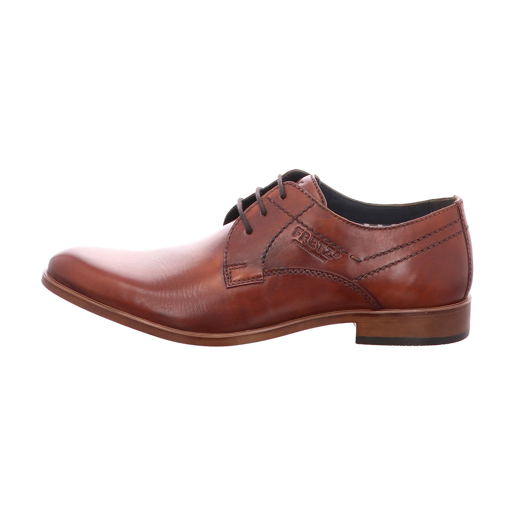 Details zu Neu FRETZ men Oskar Business Schuhe 7226047 für Herren braun dunkelbraun
