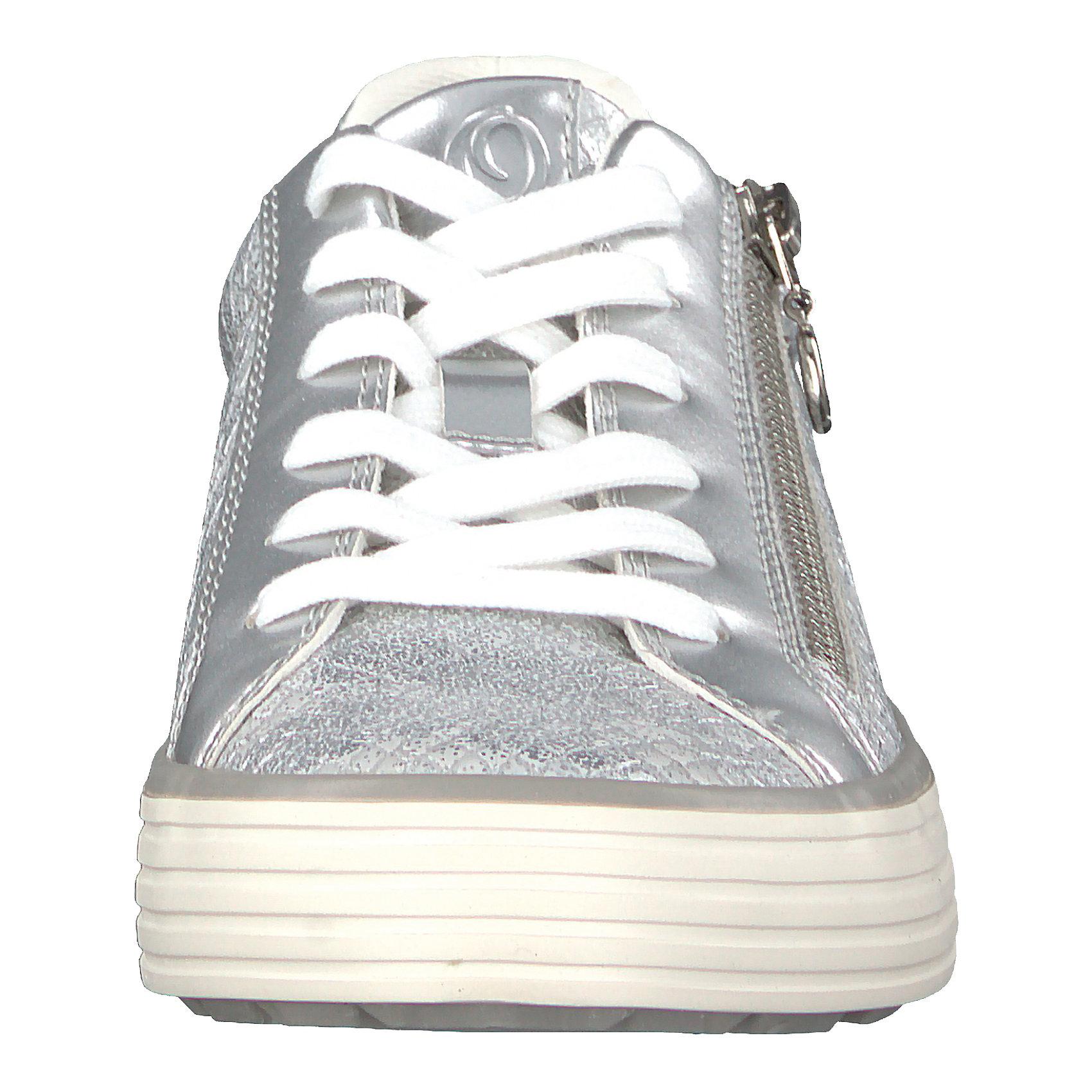 Details zu Neu s.Oliver Sneakers Low silberweiß rosegold 7213953